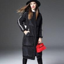 2016 New Winter Collection Celeb Loose Black Down Coat High Street Designer Winter Coat Woman Jacket COT011