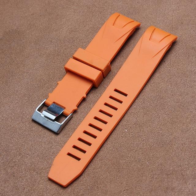 ce91a9a12fc1 Nueva llegada marca correa de reloj de goma de silicona curvada extremo  arco boca reemplazo pulsera