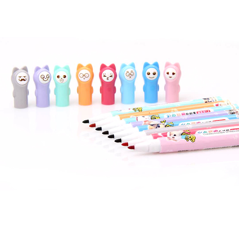 8Colors/set Cute Kawaii Whiteboard Marker Erasable Dry White Board Pen Use For Home Office School Supplies Drawing