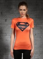 Superman Fit Clothing Lycra Short Sleeved T Shirt For Women