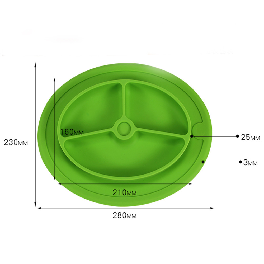 5 Colors Kids One Piece Silicone Placemat Plate Dish Food Tray Table Mat for Baby Toddler Table Decoration Accessories F925