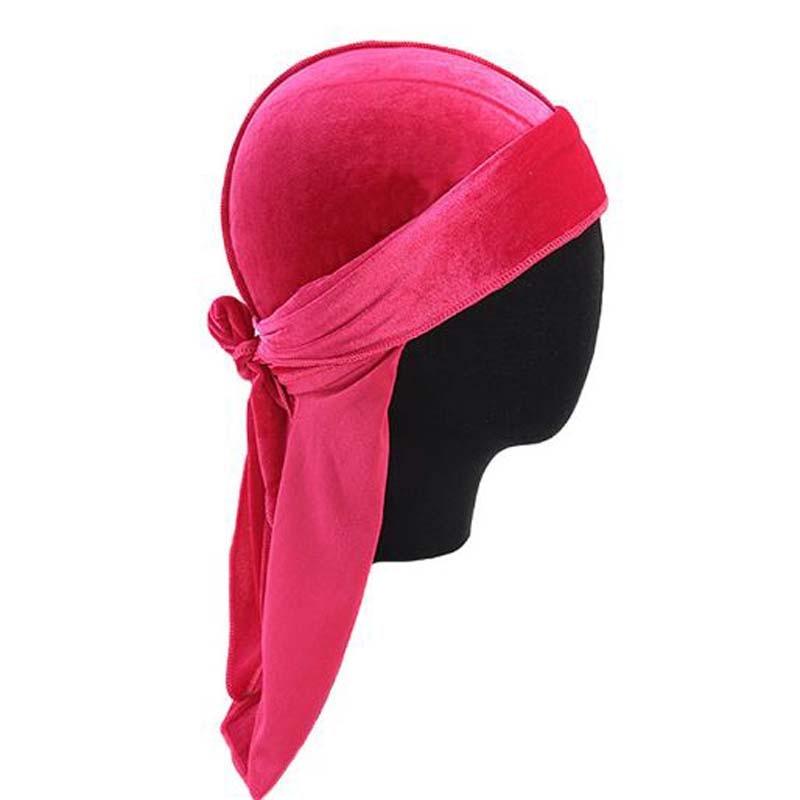 XEONGKVI India Hot Sell Velvet Long Tail Pirate Hat Spring Summer Long Ribbon Hood Women Men Caps   Skullies     Beanies   Durag