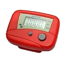 1pc New and Wholesale Digital LCD Pedometer Odometer Walking Running Pedometer Calorie Counter Red