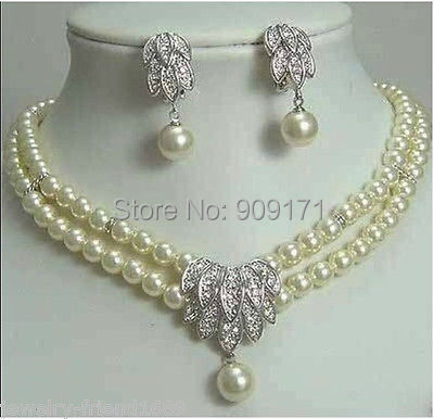 Free Shipping>>>>>Jewelery Pearl Necklace Earring SET