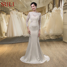 SuLi SL-011 Sexy Lace Full Sleeves Mermaid Wedding Dress
