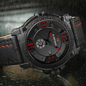 Image 2 - NAVIFORCE montre bracelet de Sport pour hommes, marque supérieure de luxe, en cuir étanche, à Quartz, style militaire, nouvelle collection 2020