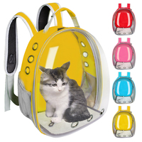 Cats Backpack Transparent Space Pet Bag Outdoor Travel Carrier Capsule Bag Breathable Portable Puppy Carrier Cat Transport Box