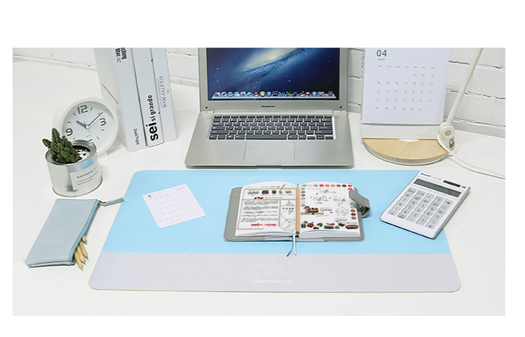 600*360mm Sky Blue Soft Large Notbook Computer Gaming Mouse Pad for PC Computer Laptop Writing Pad School Office Supplies