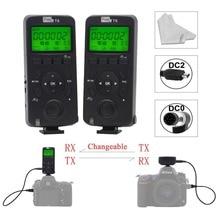 Здесь можно купить  For Nikon D700 D5200 D3200 D7200 Camera Wireless Transceiver Pixel T6 Timer Shutter Release Remote Control with DC0/DC2 Cable x2
