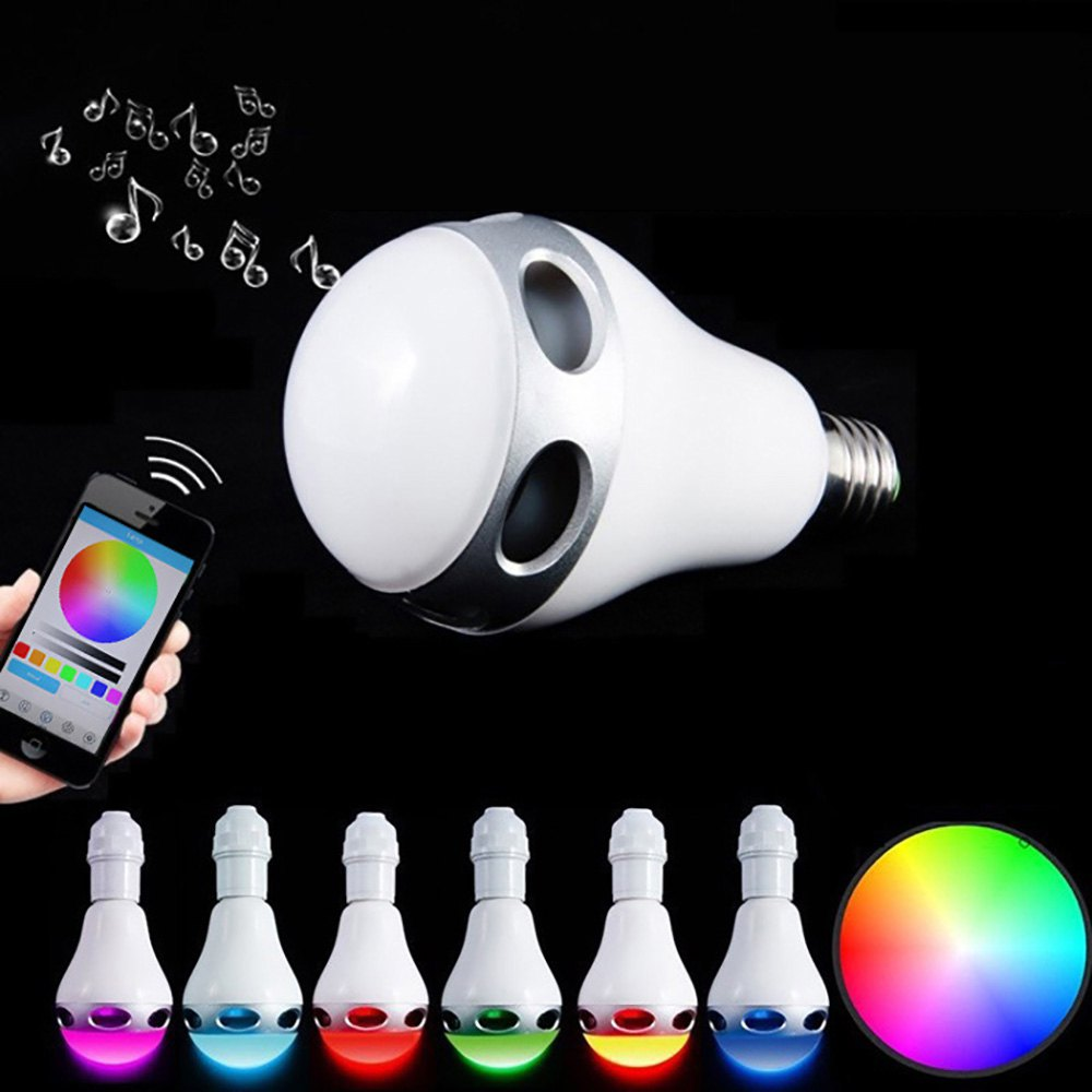10pcs/lot New Arrival Multi-Functional Bulbs Smart E26/E27 Bulb RC Colorful LED Bluetooth 3.0 Speaker Lights LED Bulb