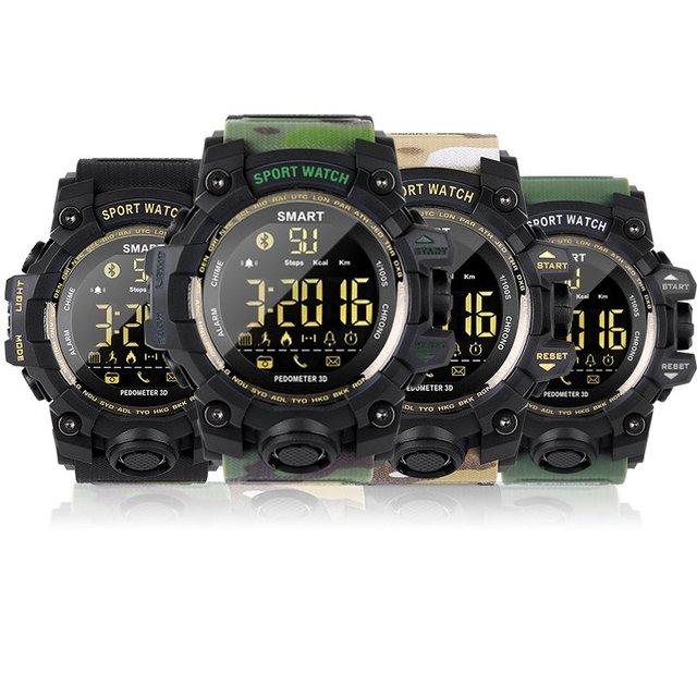 FREZEN Waterproof Sports Smart Watch EX16S Camouflage Outdoor Bluetooth Remote Pedemeter Control Photo Long Standby Smartwatch