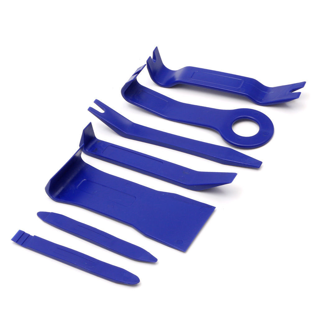 7 Pcs/set Blue Nylon Car Panel Dash Audio Stereo GPS Molding Removal Install Tool Kit