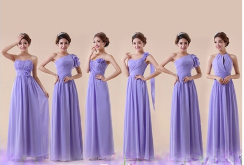 Aliexpress Customzed Light Purple Group Bridesmaid Dress 2017 New Arrival Free Shipping Slim Waistline Beach One Shoulder Y 0 From Reliable