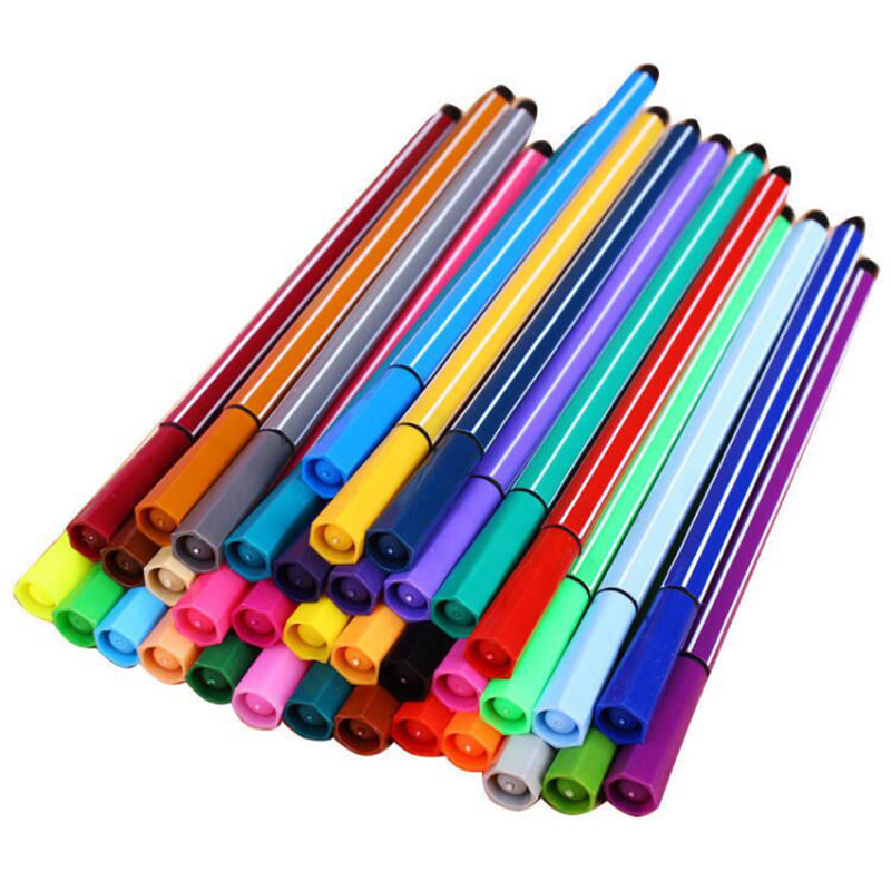 12 Colors Water Based Ink Single End Brush Art Markers Pen Fine Tip And Brush Tip Great For Coloring Books Calligraphy Supplies