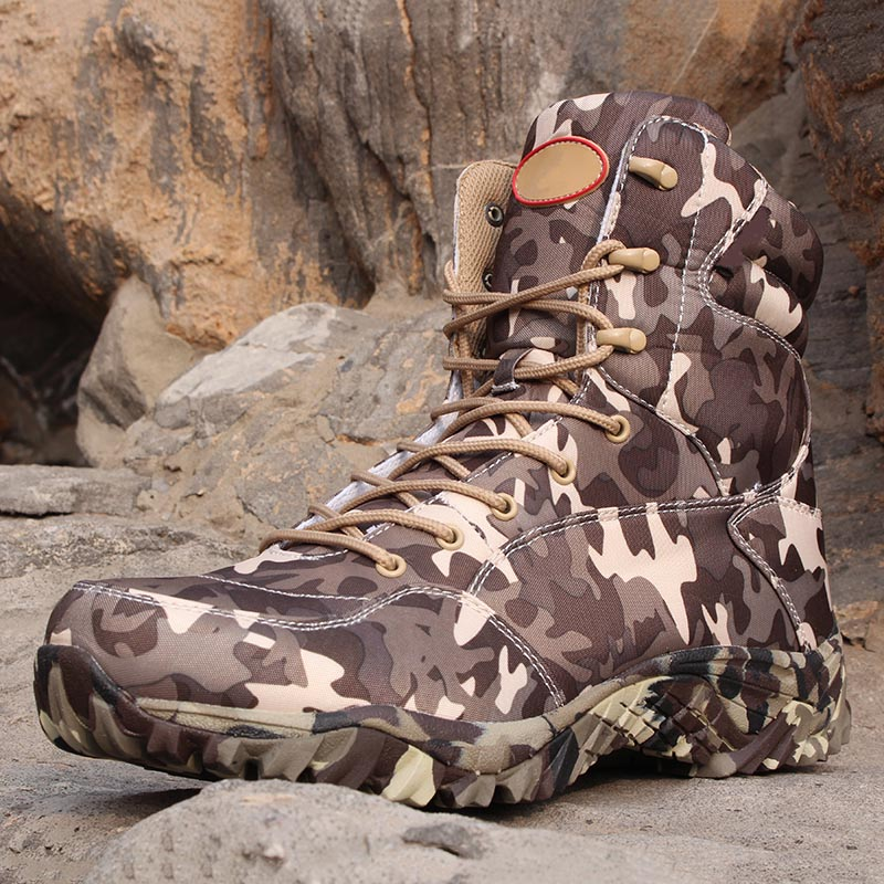 Men's Tactical Boots Waterproof Hiking Ankle Boots Men Outdoor Climbing Hiking Trekking Shoes Tactical Hunting Military Shoes waterproof men outdoor hiking boots autumn winter hunting boots mountain climbing men trekking shoes warm fur snow boots male