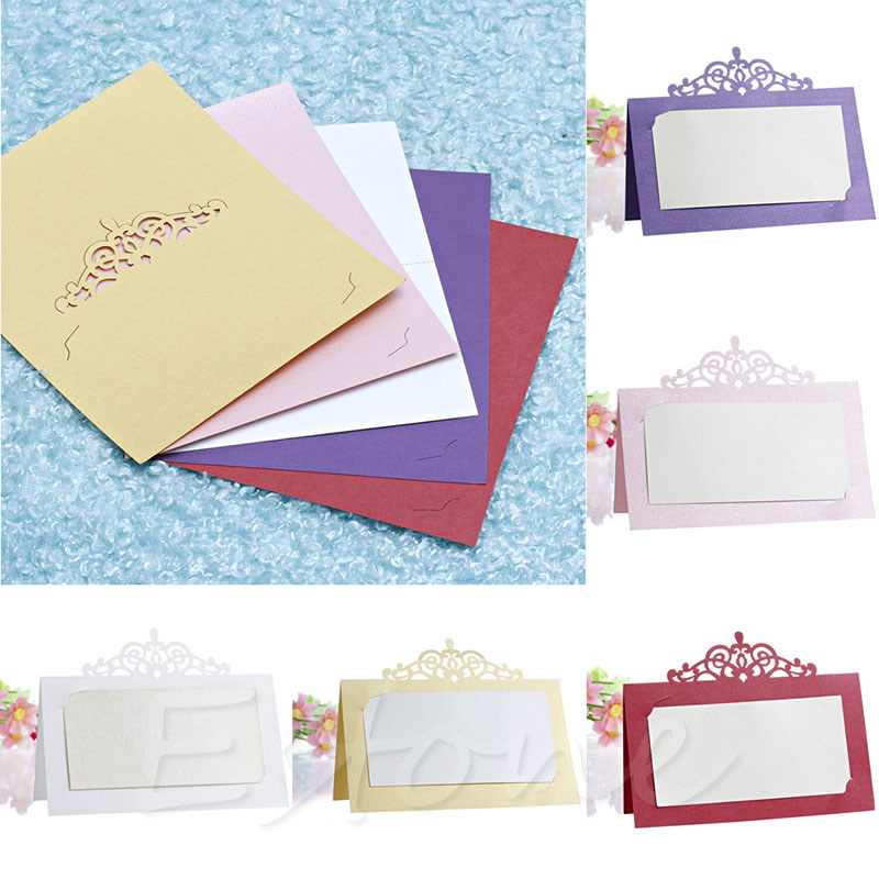 50pcs Wedding Party Place Name Cards Tableware Personalised Seating Card Decoration China