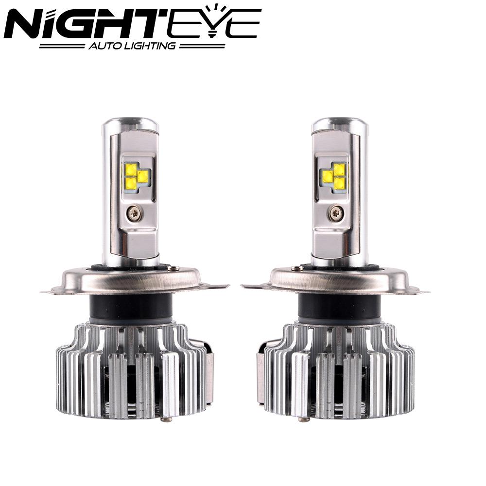 Prix pour Nighteye 80 W/set 9000LM H4/HB2/9003 avec Cree LED Phare Ampoules Brouillard Lampes Lumière 6000 K Blanc voiture Led Livraison Gratuite