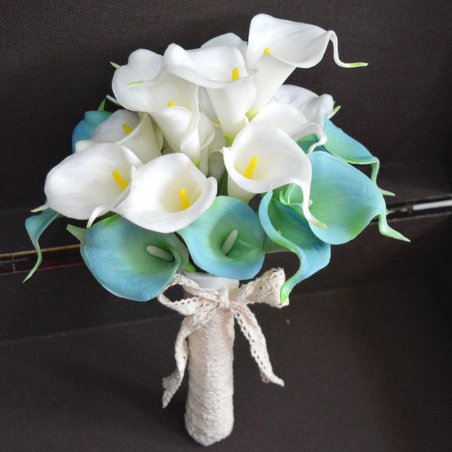 2016 simulación Calla celebración suministros flores de la boda de Corea boda estudio de fotografía apoyos que sostiene las flores flor de la boda
