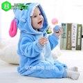 Mamelucos Del Bebé recién nacido de Invierno de Franela Puntada Panda Bebé Ropa Mono traje Niña traje Mamelucos animales