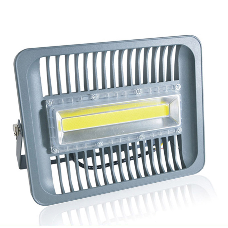 LED Flood Light 30W 50W 100W 110V 220V IP65 WaterProof Pemandu IC Pintar Spotlight Lampu Dinding Luar Dingin Putih Hangat Putih EU Pulg