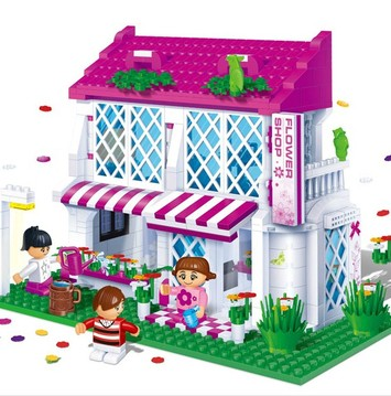 Banbao 6102 425 pcs Princess Series Flower Shop Blocks Toys for Girls Plastic Building Block Sets Educational DIY Bricks Toys