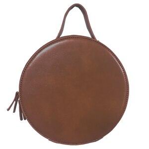 Image 5 - Новые круглые сумки через плечо для женщин, новинка 2019, сумка мессенджер через плечо из искусственной кожи, женские сумки на цепочке, женская сумка