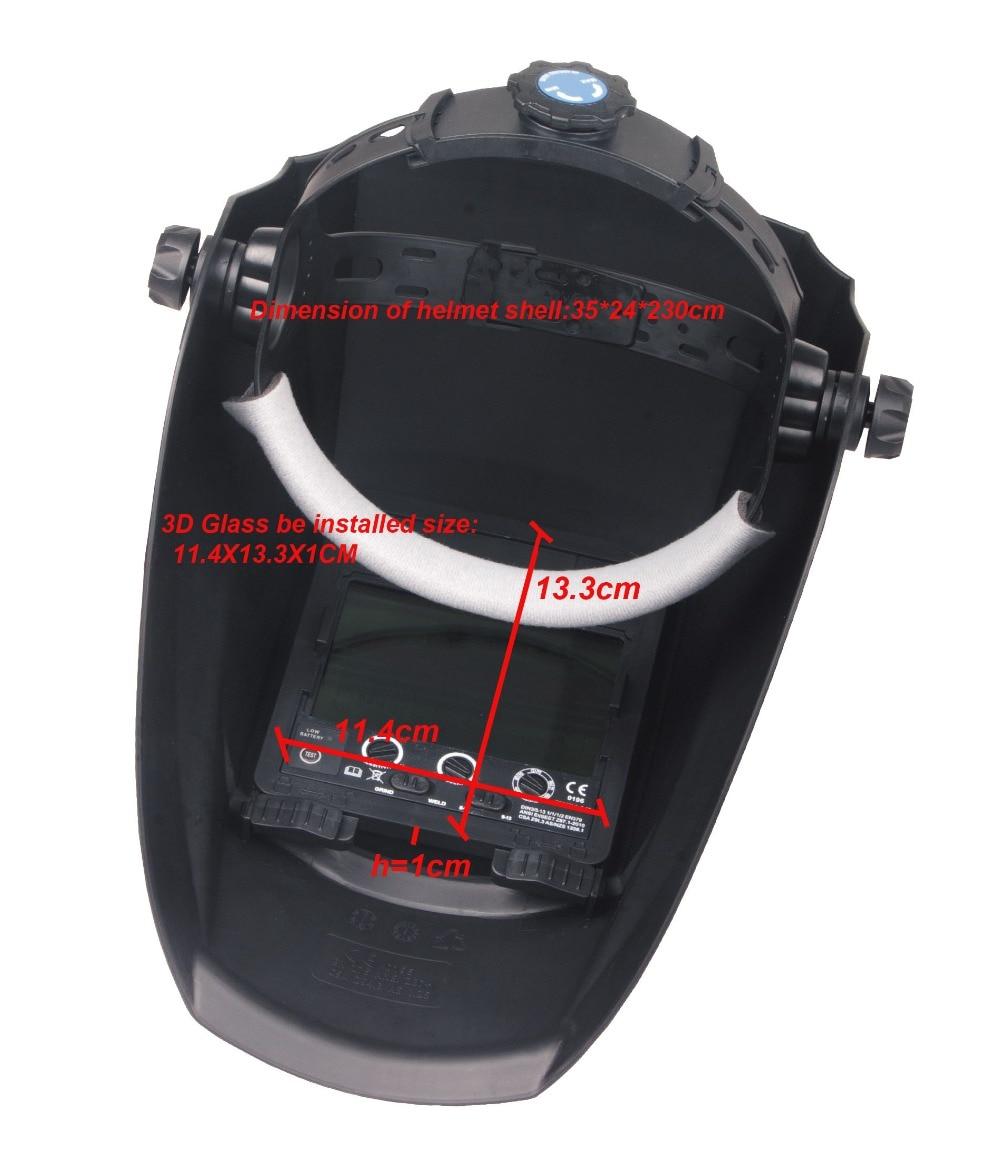 red coll Auto darkening welding helmet face mask Electric welder mask cap for the welding machine in Welding Helmets from Tools