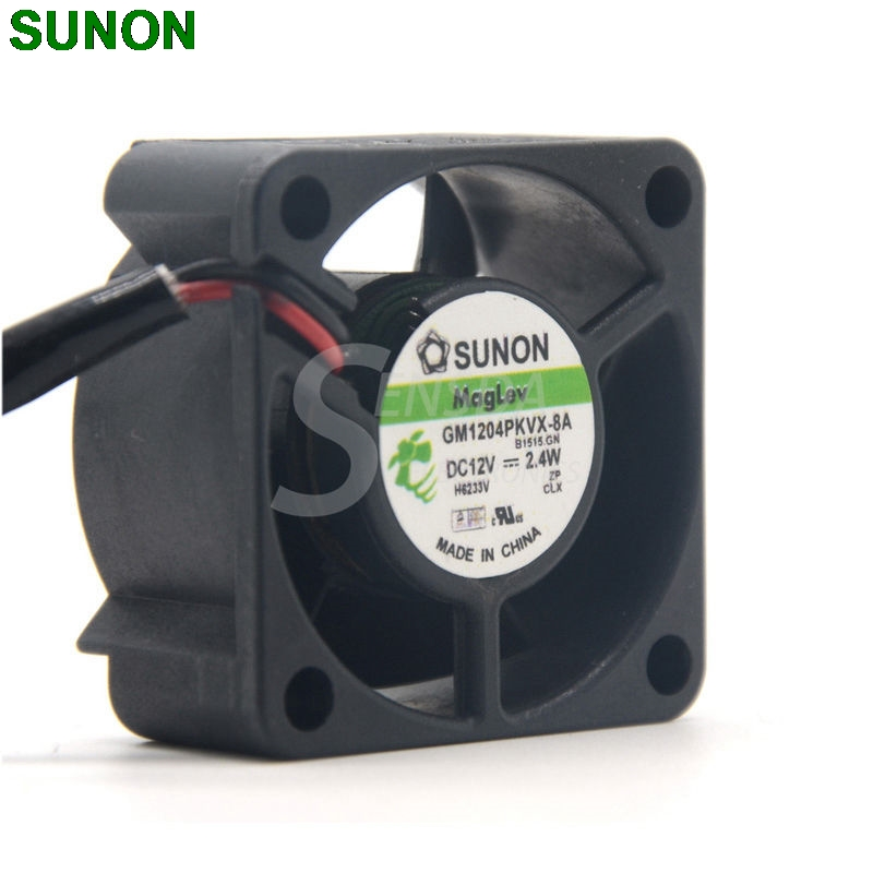 SUNON 4020 GM1204PKVX-8A 12V 2.4W 2Wire Server Cooling FanSUNON 4020 GM1204PKVX-8A 12V 2.4W 2Wire Server Cooling Fan