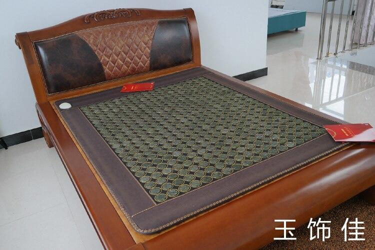 Free shipping for jade mattress natural jade mattress far infrared mattress size 1.2*1.9M natural latex mattress comfort revolution hydraluxe gel memory foam mattress