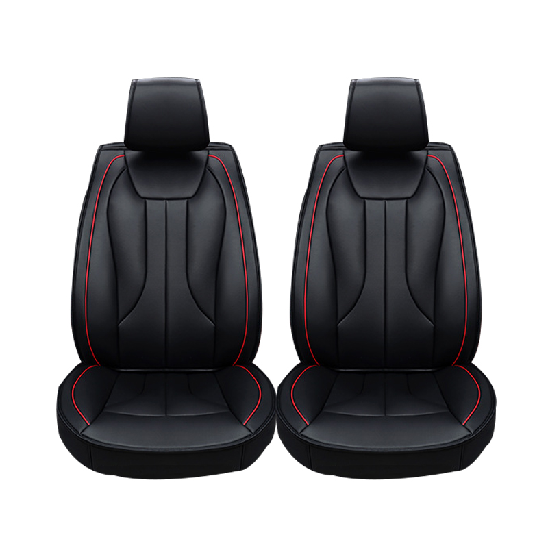 2 pcs Leather car seat covers For Chery QQ fl A1 A3 A5 E3 Tiggo seat covers car accessories styling universal pu leather car seat covers for toyota corolla camry rav4 auris prius yalis avensis suv auto accessories car sticks