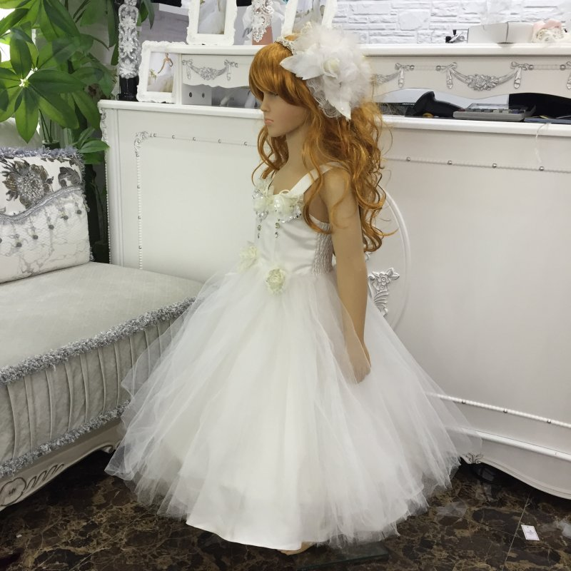 HG Princess Hot Sales 2T-10T Kids Party Dress 2018 New Arrival Ball Gown For Girls Ivory Flower Girl Dresses For Weddings  X-507 4pcs new for ball uff bes m18mg noc80b s04g