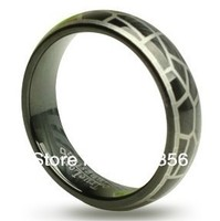 Free Shipping Buy Cheap Price Jewelry USA Brazil Russia HOT Selling 7MM Black Plated and Laser Snakeskin Tungsten Wedding Ring