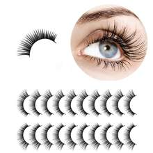 10 paires 3D naturel épais Faux Faux cils Dense Faux cils Extension de maquillage naturel Faux vison cils(China)