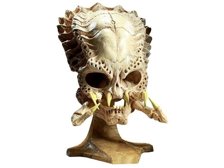 Ofis ve Okul Malzemeleri'ten Tıbbi Bilim'de Predator kafatası modeli Alien vs Predator kafatası modeli Alien Hunter modeli title=