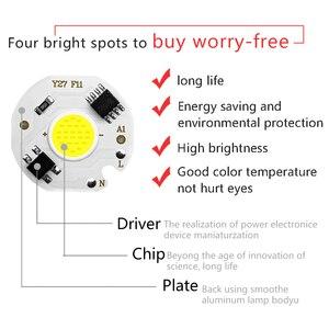 Image 2 - 5 قطعة مصباح cob على شكل شريحة LED مصباح الطاقة الحقيقية 3 واط 5 واط 7 واط 10 واط 12 واط Y27 LED المصباح الكهربي 220 فولت IP65 المدخلات الذكية IC لتقوم بها بنفسك LED كشاف ضوء الأضواء