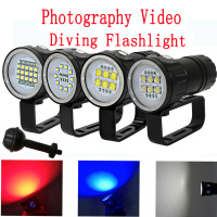 LED Diving Flashlight XHP70 / 90 LED Photography Video light 20000LM underwater 100m waterproof Tactical torch Lamp
