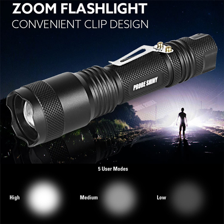 PROBE SHINY Super 5000lm Shadowhawk X800 Tactical Flashlight LED Zoom Military Torch G70 ...