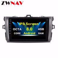 2 Din Android 8.0 Car GPS Navigation head unit For Toyota Corolla 2007 2011 multimedia Radio tape recorder no DVD player 4+32