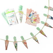 DIY Easter Carrot Treat Bags Shaped Cone Candy with Bunny Chick Egg Crafts Happy Spring Party Supplies