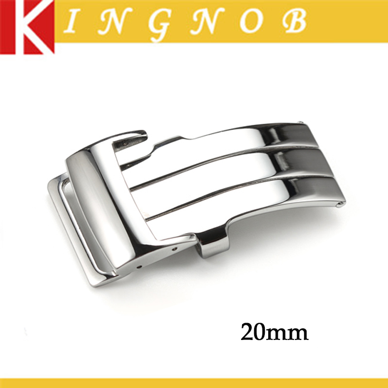 20mm Watch Buckle 316L Stainless Steel Polished Deployment Buckle Clasp For Breitling Watch Strap Free Shipping