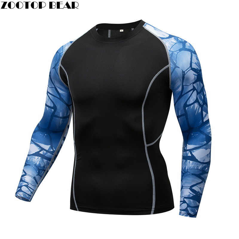 Stone MMA Compression shirt Men shirt quick dry Elastic Base Layer Skin Tight Weight Lifting Crossfit Top Tee Rash guard Fitness