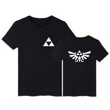 The Legend of Zelda Black white Cotton T-shirt Short Sleeve T Shirts and Mens TShirts Summer in Hip Hop 3XL Tee Shirt Long