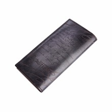 TERSE_Lettering Men Long Wallet Antique Exclusive Design Wallet 5 Colors in Stock Handmade Genuine Leather Purse Dropshipping