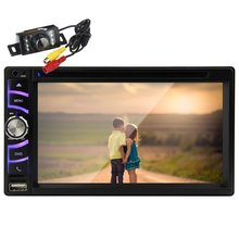 """Free Camera+6.5"""" Double Din Car DVD Player HD Touch Screen 2 Din Car Stereo In Dash Car Radio Supports Bluetooth output"""