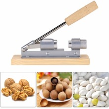 цены на New Manual Stainless Steel Nutcracker Wooden Handle Multi-Function Nut Cracker Sheller Walnut Cracker Metal Opener Kitchen Tool  в интернет-магазинах