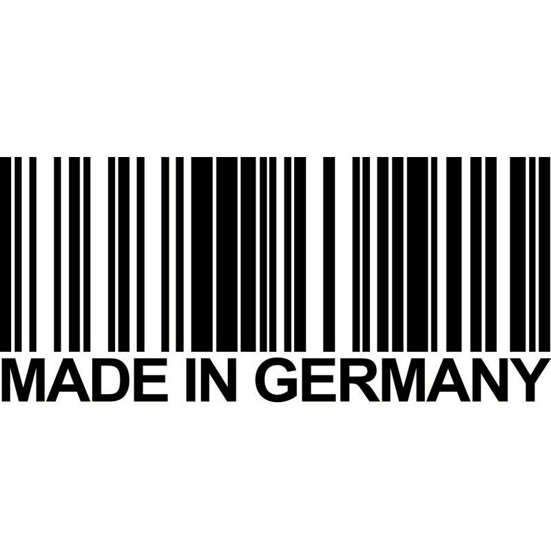 15.6cm*6.8cm MADE IN GERMANY Bar Code Fashion Vinyl Decals Car Stickers Accessories S6-3775