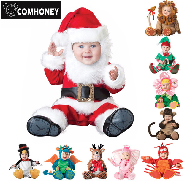 Baby Rompers Winter Animal Pirate Dinosaur Penguin Santa Claus Deer Toddler Christmas Carnival Halloween Elf Costume  sc 1 st  AliExpress.com & Baby Rompers Winter Animal Pirate Dinosaur Penguin Santa Claus Deer ...