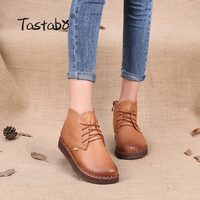 Tastabo Genuine Leather Ankle Boots High Quality Fashion Women S Boots New Short Boot 2017 Autumn
