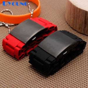 Image 5 - Silikon gummi uhr band mens wasserdicht für diesel armband armband band 28mm DZ7370 DZ7396 DZ428 edelstahl b