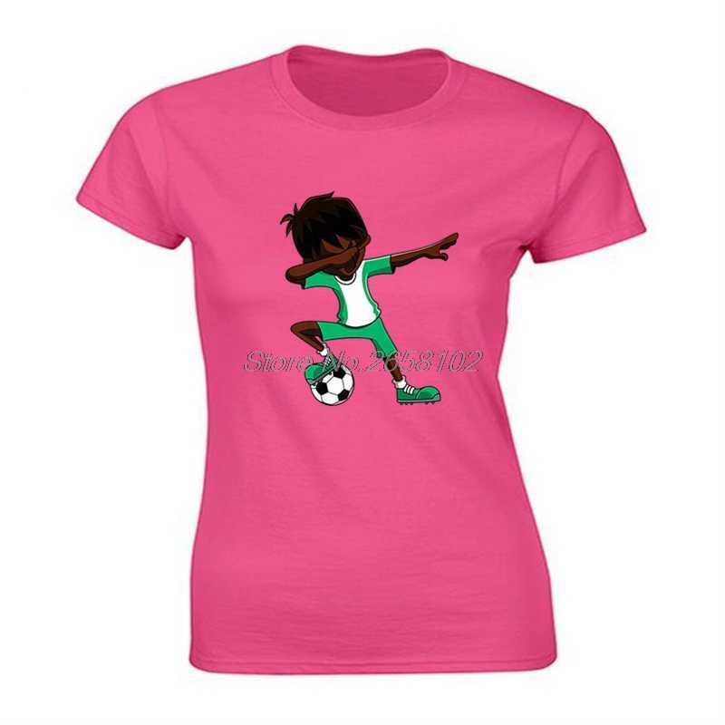 חדש קיץ נשים 100% כותנה חולצה מגניב מספיג Soccers חולצה, ניגריה דגל כדורגלן Slim Fit T חולצות Harajuku